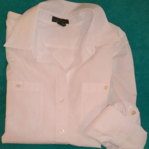LRL Lauren Jeans Co. White Camp Shirt XL
